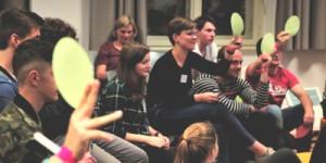 Teilnehmende der Jugendkonferenz 2017, (c) Arbeitsgemeinschaft für Kinder- und Jugendhilfe - AGJ
